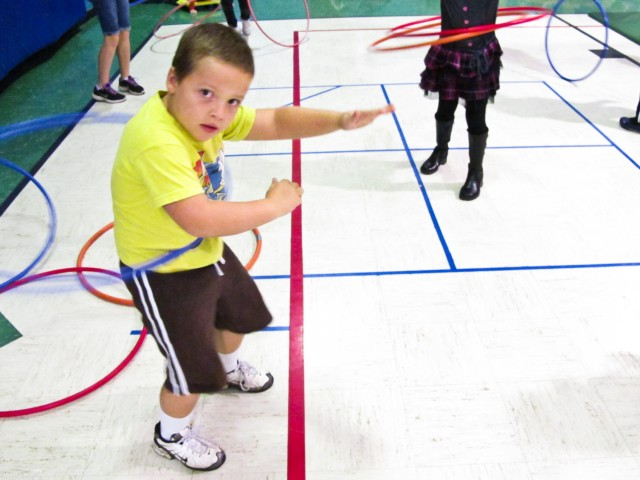 Hula hoops, frisbees, frisbee golf and other fun, inexpensive stuff.