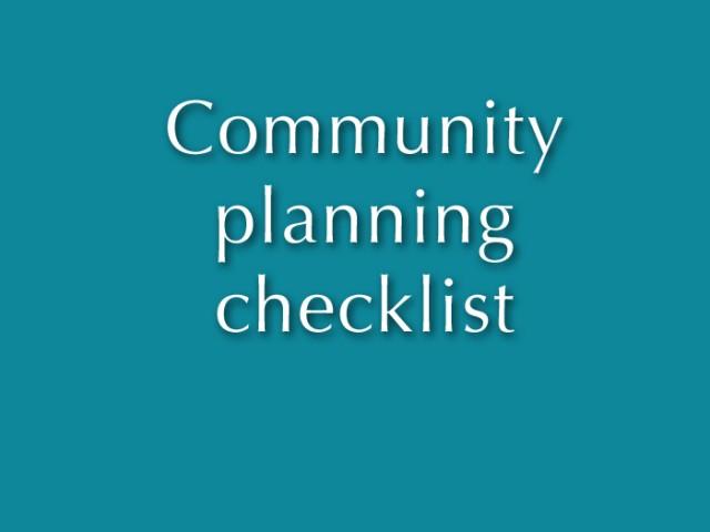 Make a long-range plan!